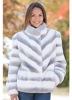 Women's Brynn Rex Rabbit Fur Jacket