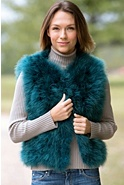 Women's Estella Marabou Feather Vest