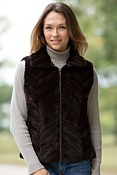 Women's Cyanne Reversible Sheared Mink Fur Vest