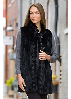 Women's Dee Reversible Mink Fur Vest