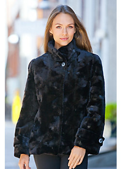 Women's Marion Sheared Danish Mink Fur Jacket