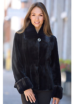 Women's Phoebe Sheared Danish Mink Fur Jacket