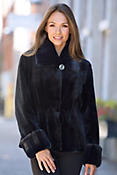 Women's Phoebe Sheared Mink Fur Jacket