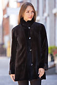 Women's Pamela Reversible Sheared Mink Fur Jacket