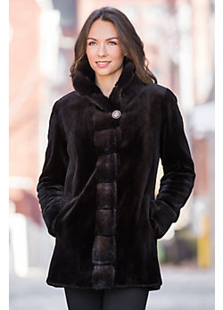 Aurora Sheared Mink Fur Jacket