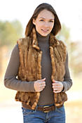 Terissa Knitted Mink Fur Vest