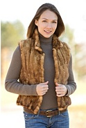Women's Terissa Knitted Mink Fur Vest