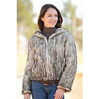 Women's Kristina Hooded Danish Mink Fur Jacket, Beige, Size Xlarge (12) Western & Country
