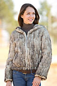 Women's Kristina Hooded Knitted Danish Mink Fur Jacket