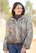 Kristina Knitted Danish Mink Fur Jacket