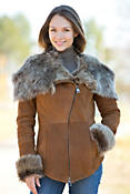 Women's Tracy Hooded Toscana Sheepskin Jacket