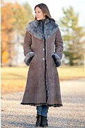 Dakota Hooded Toscana Sheepskin Coat