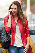Women's Greenwich Lambskin Leather Jacket