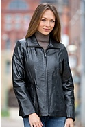 Zelda Lambskin Leather Jacket