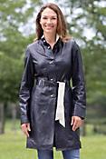 Women's Paulette Lambskin Leather Coat