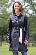 Paulette Lambskin Leather Coat