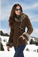 Women's Felicia Shearling Sheepskin Jacket with Toscana Trim