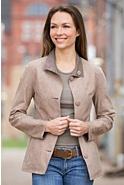 Dulce Reversible Sueded Lambskin Leather Jacket