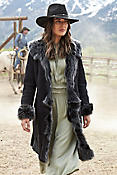 Sandra Shearling Sheepskin Coat