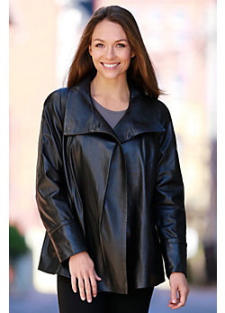 Esmerelda Swing Lambskin Leather Jacket