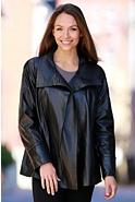 Esmerelda Swing Lambskin Leather Jacket