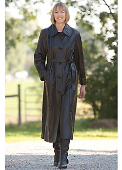 Women's Charlotte Full Length Lambskin Leather Coat
