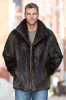 Ethan Beaver Fur Jacket