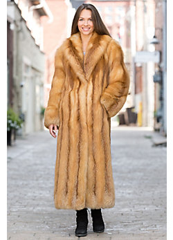 Anastazia Red Fox Fur Coat