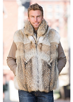 Sawyer Coyote Fur Vest
