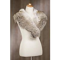 Retro Vintage Style Coats, Jackets, Fur Stoles Coyote Fur Shawl Collar NATURAL Size XSS $449.00 AT vintagedancer.com