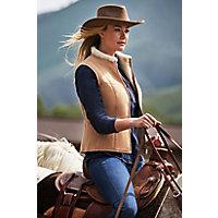 Pauline Shearling Sheepskin Vest, WHISKEY, Size LARGE (8)