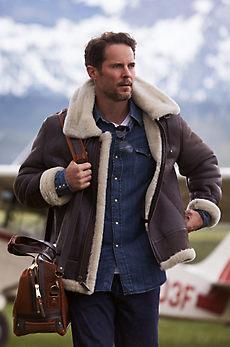Richard Tiger Print Sheepskin Bomber Jacket with Detachable Hood