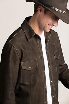 Shane Goatskin Suede Western Shirt Jacket
