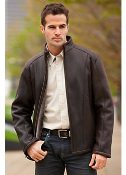 Men's Clive Shearling Sheepskin Car Coat