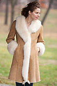 Women's Jannie Frost Shearling Sheepskin Coat