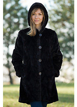 Women's Tristen Reversible Sheared Mink Fur Coat