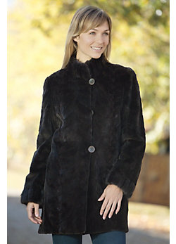 Women's Miriam Reversible Sheared Mink Fur Coat