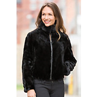 Women's Colesha Reversible Mink Fur And Leather Jacket, Black / Black, Size Small (6) Western & Country