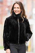 Reversible Mink Fur and Leather Jacket