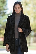Women's Roxanne Reversible Sculptured Mink Fur Coat