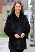 Women's Palmira Reversible Mink Fur Coat