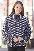 Women's Celine Horizontal Rabbit Fur Jacket