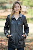 Women's Stacey Lambskin Leather Coat