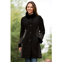 Women's Raelynn Two-Tone Shearling Sheepskin Coat, Black / Graphite, Size Large (10) Western & Country