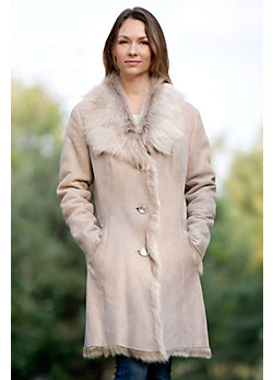 Women's Whitney Toscana Shearling Sheepskin Coat