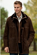 Men's Oliver Shearling Sheepskin Car Coat