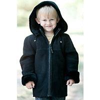 Children'S Kadin Shearling Sheepskin Jacket With Detachable Hood, Black / Black, Size 2 Western & Country