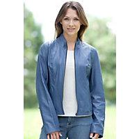 Women's Minerva Reversible Lambskin Leather Jacket, Marina, Size Large (10) Western & Country