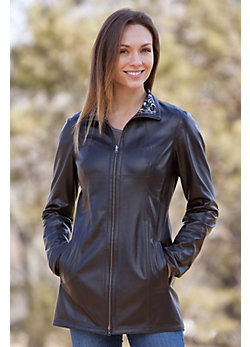 Gabriella Reversible Lambskin Leather Coat