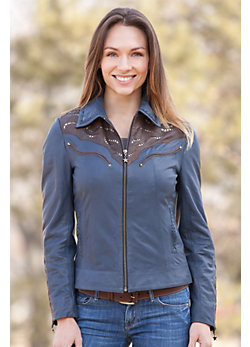 Caroline Lambskin Leather Jacket